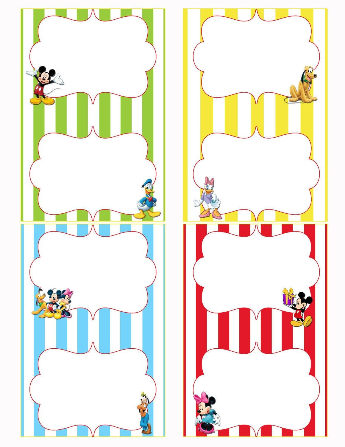 Mickey Mouse Clubhouse Free Printables