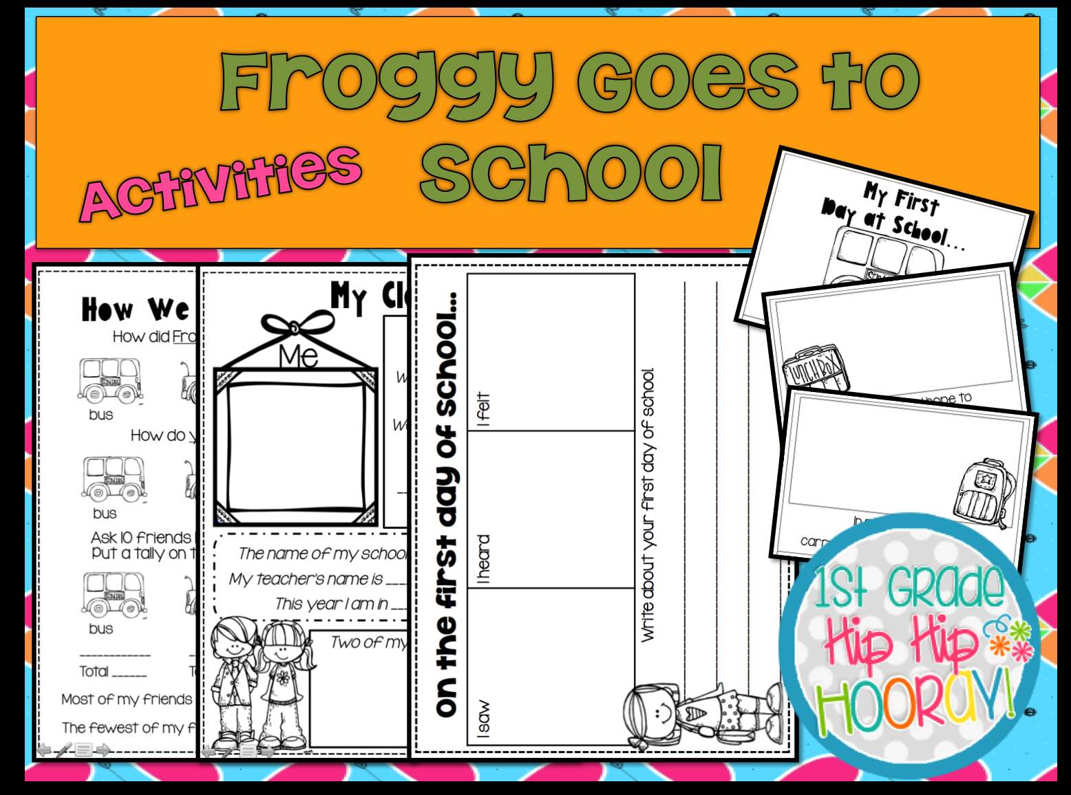 Froggy Goes To School Free Printables