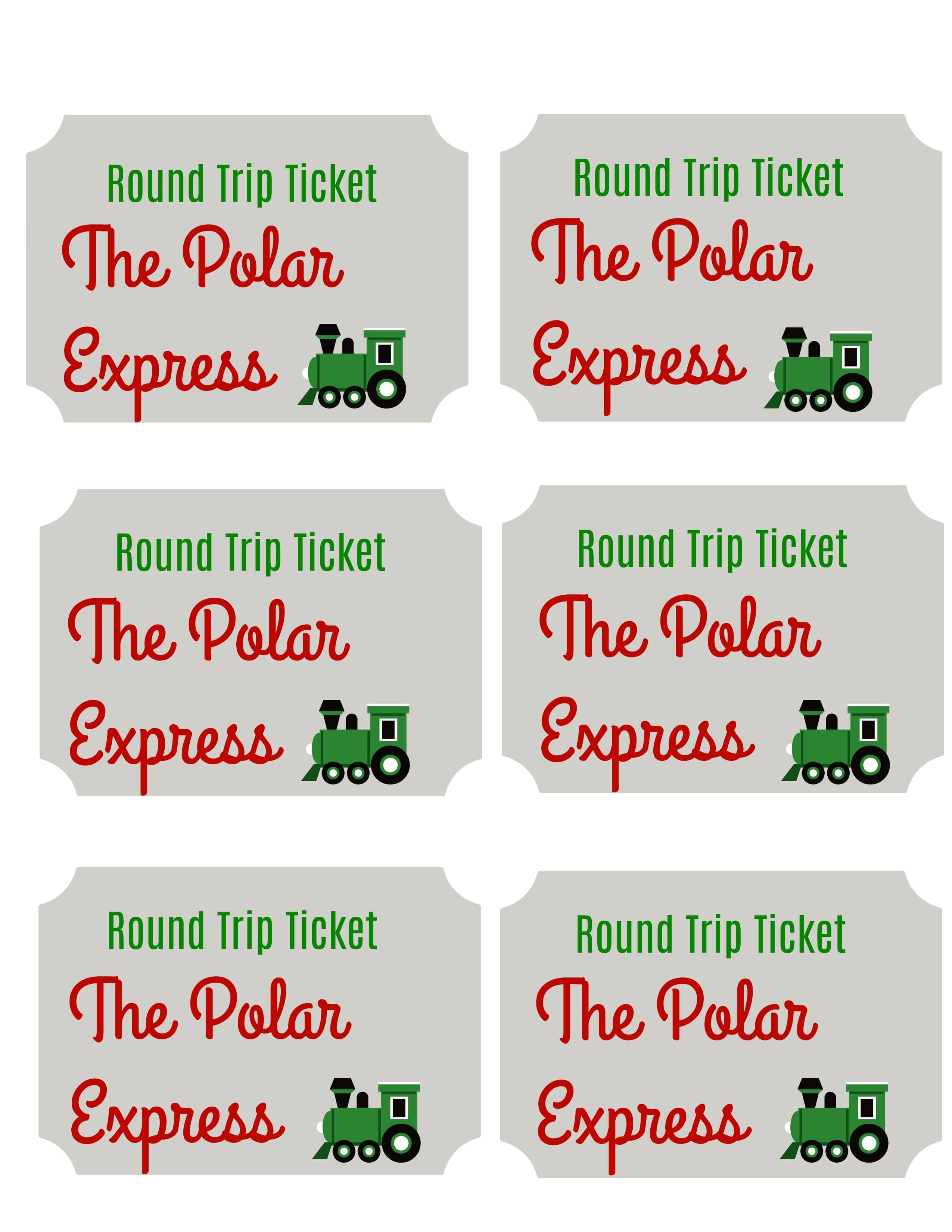 Polar Express Free Printables