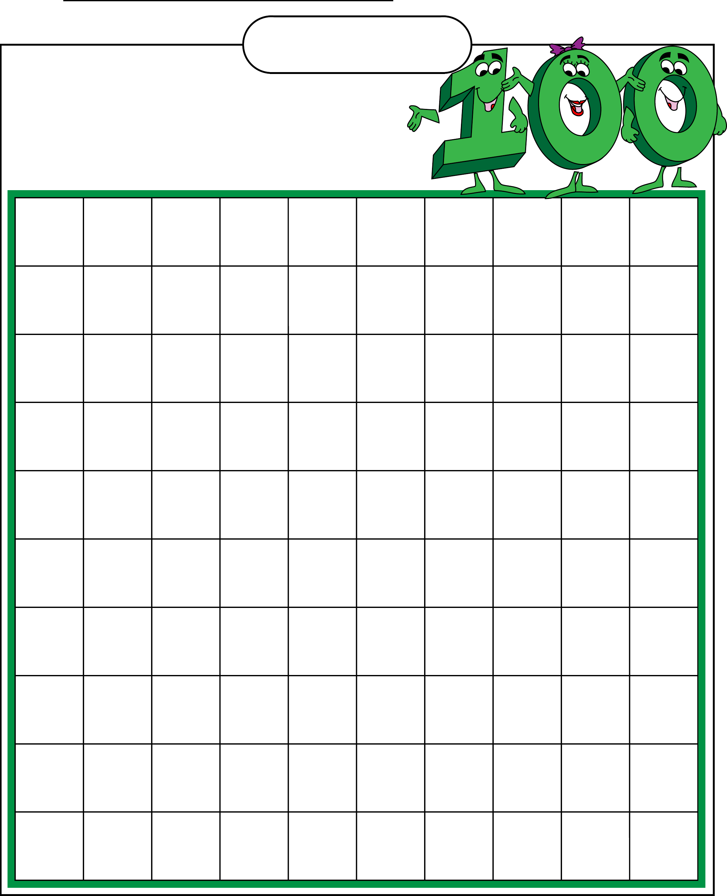 Free Printable Hundreds Chart To 120