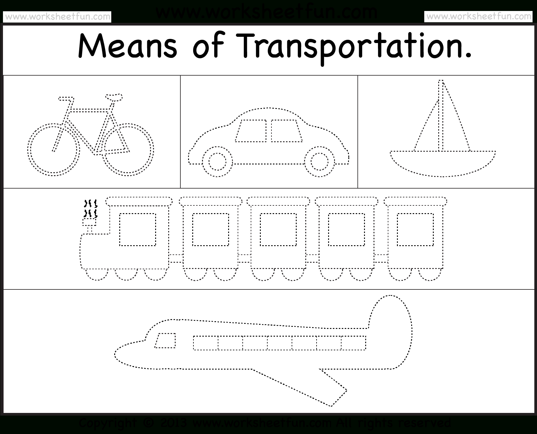 Free 40 Page Preschool Transportation Theme Printables