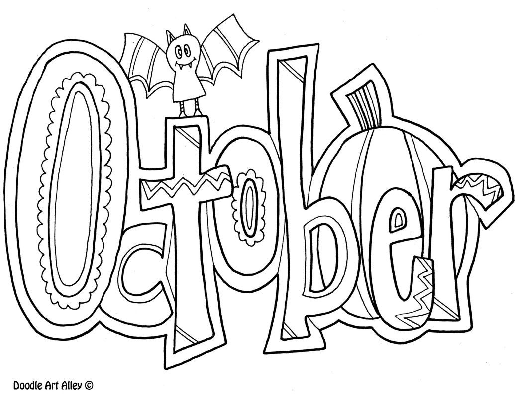 October Coloring Pages Seasons Pinterest Happy Pdf To