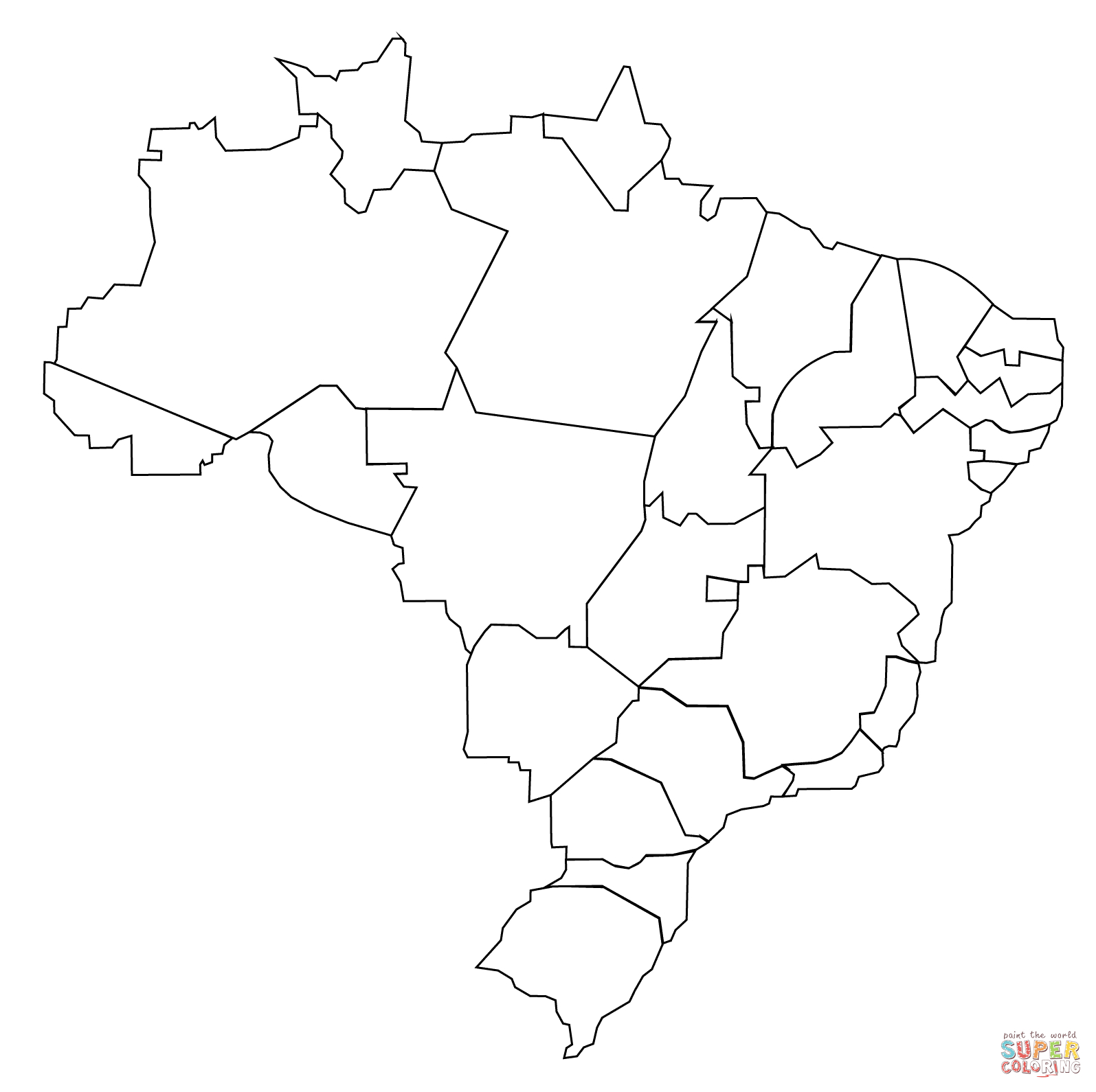 Latin America Printable Blank Map South Brazil Maps Of