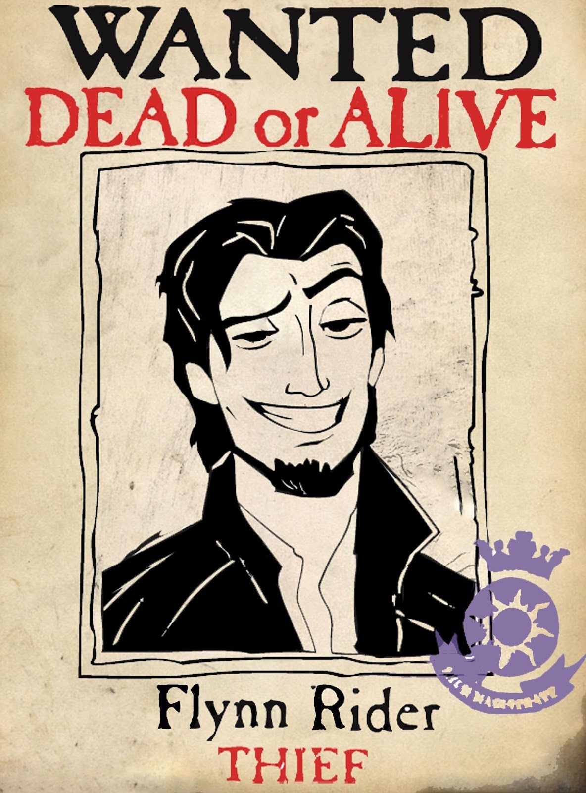 Free Printable Flynn Rider Wanted Poster