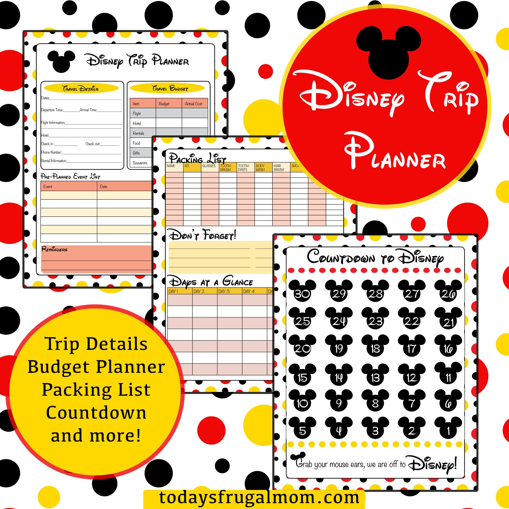 Free Disney Planning Binder Printables
