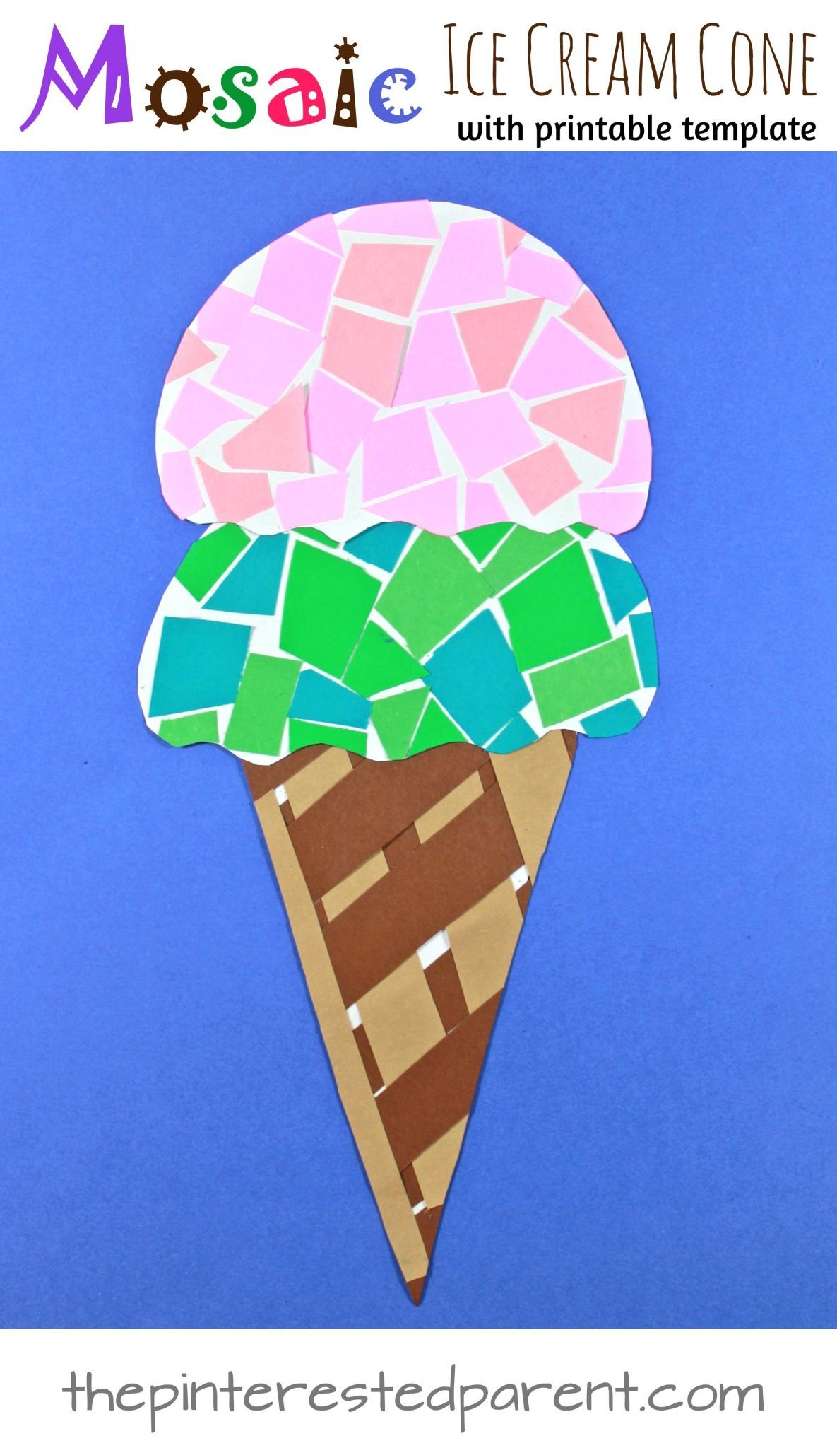 Ice Cream Cone Template Free Printable