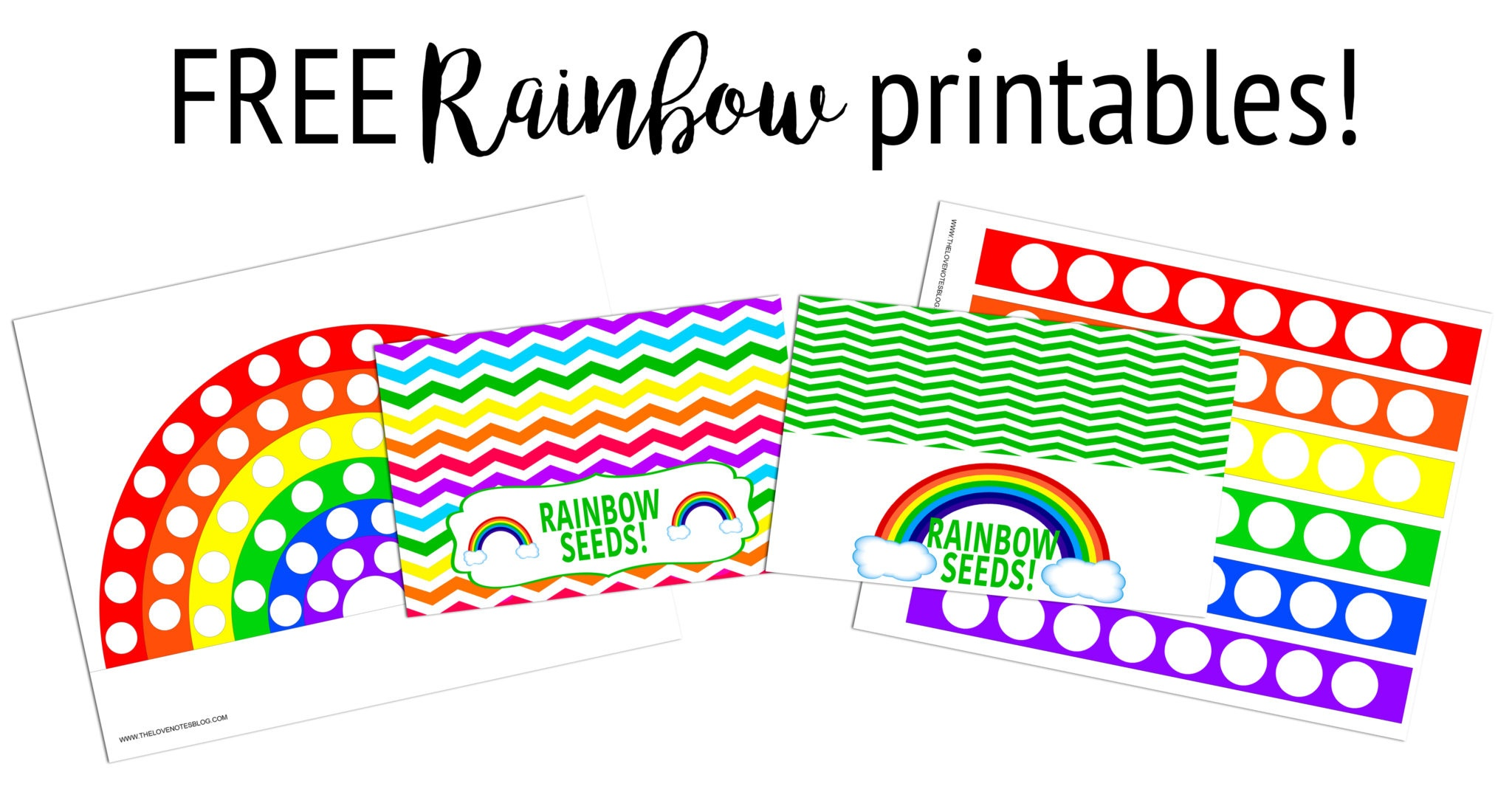 Free Printable Paper Rainbow With Coloring Option
