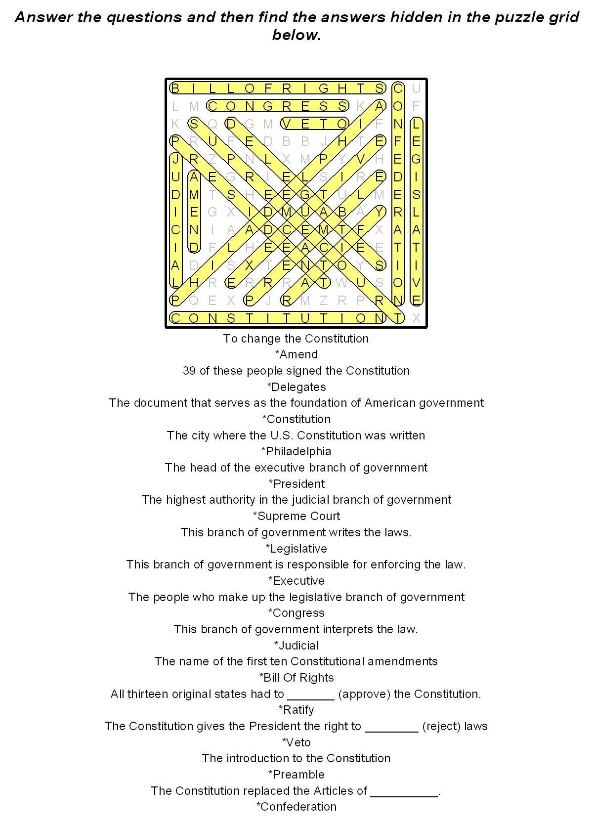 Printable U S Constitution