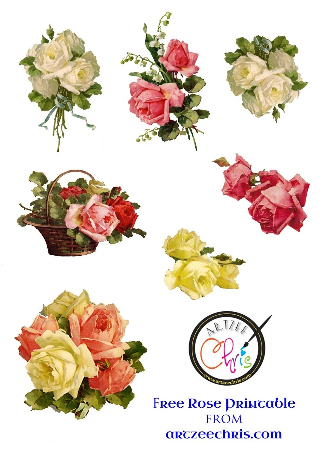 Free Printable Decoupage Flowers