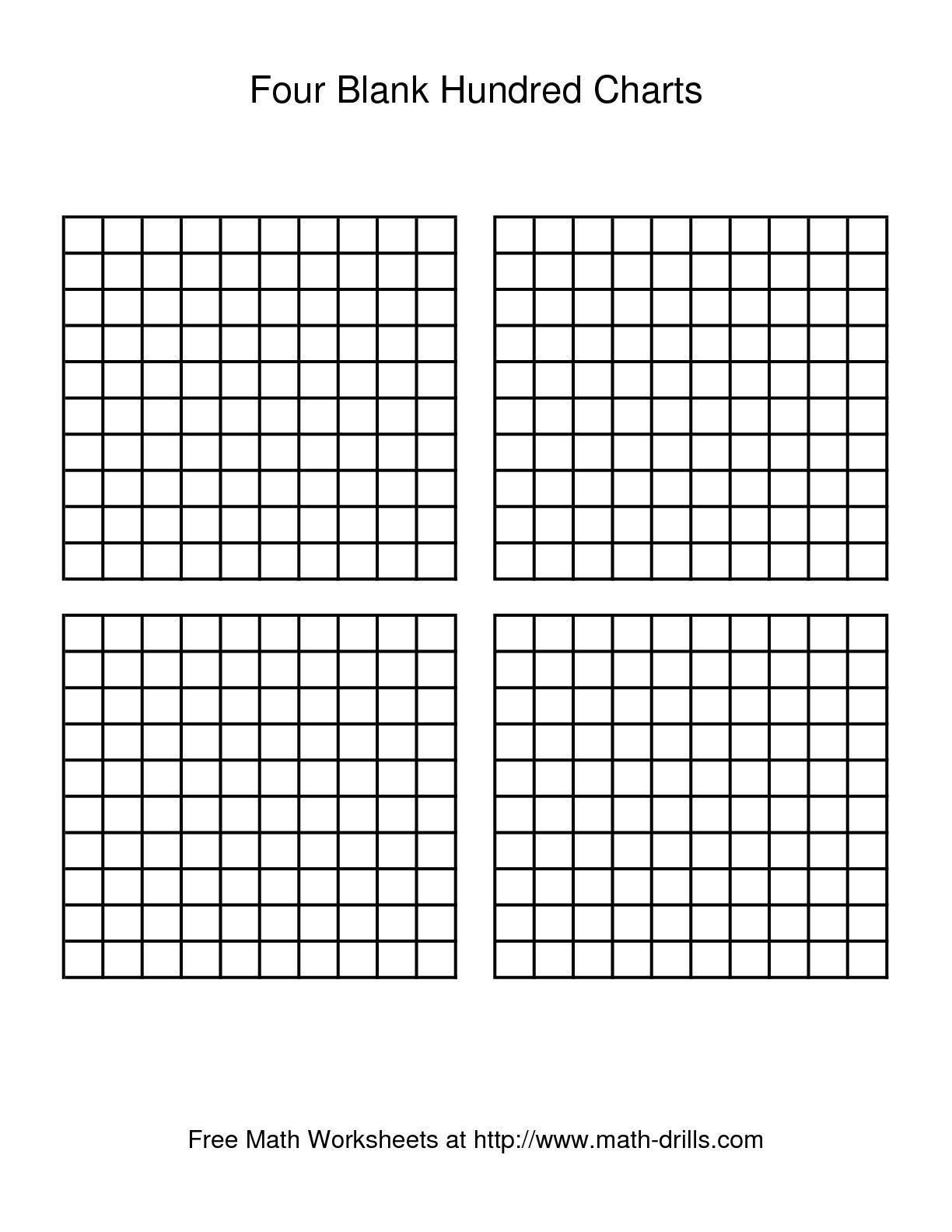 Free Printable 1 To 100 Chart Blank