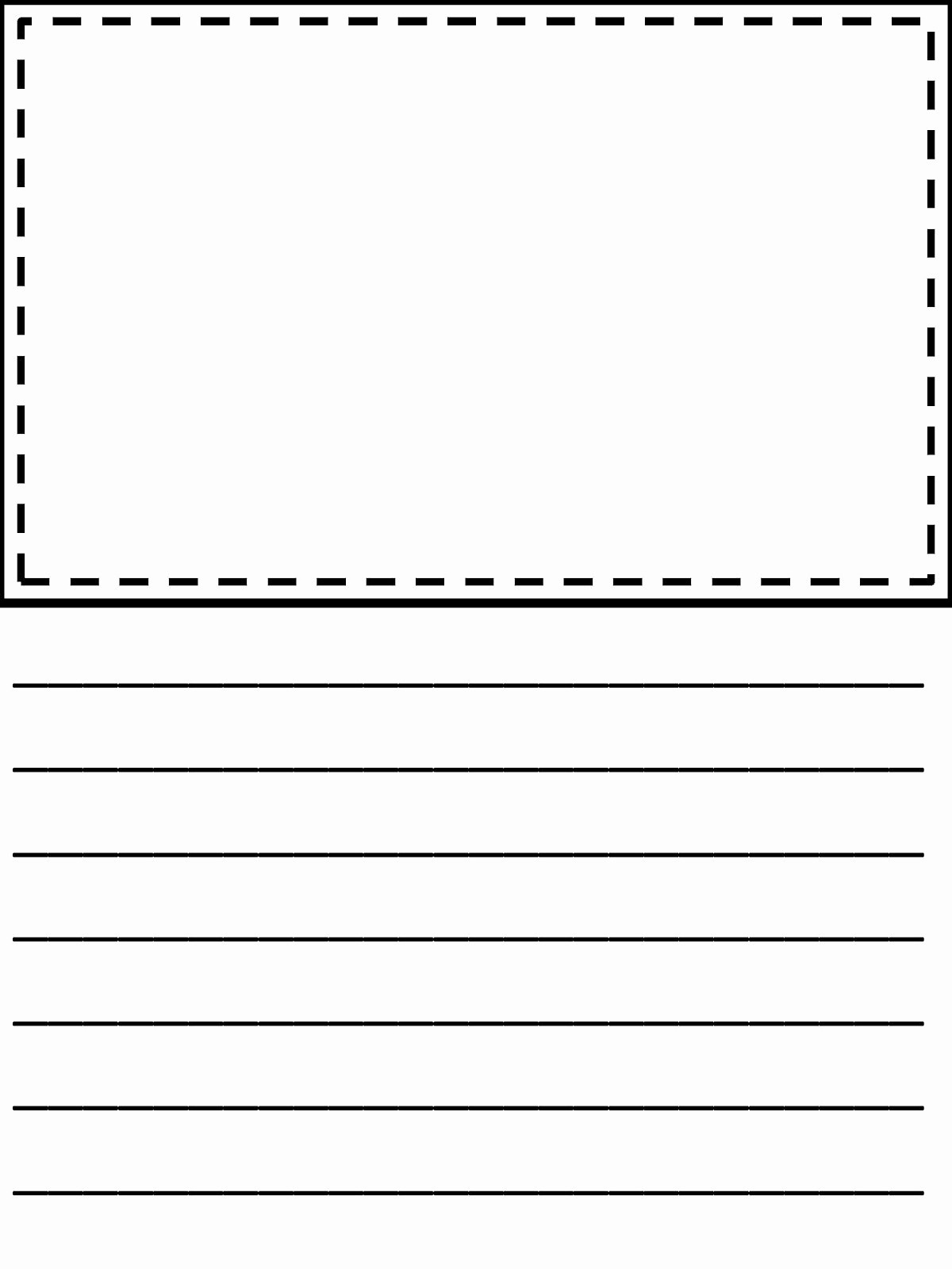 Free Printable Writing Paper With Picture Box