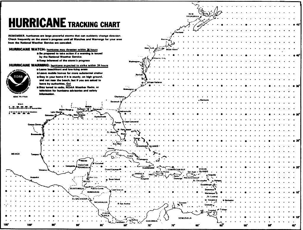 Blank Hurricane Tracking Chart