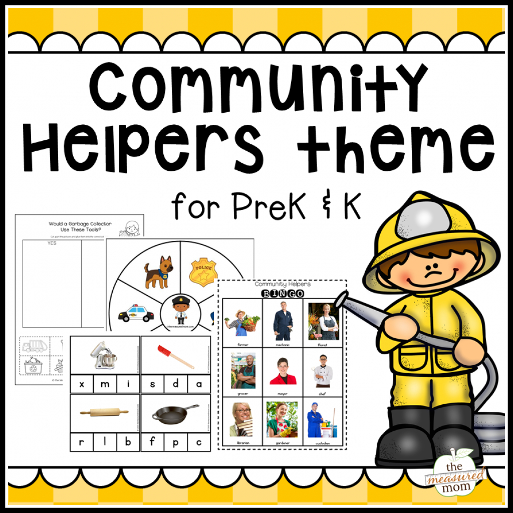 Community Map For Kids Printable