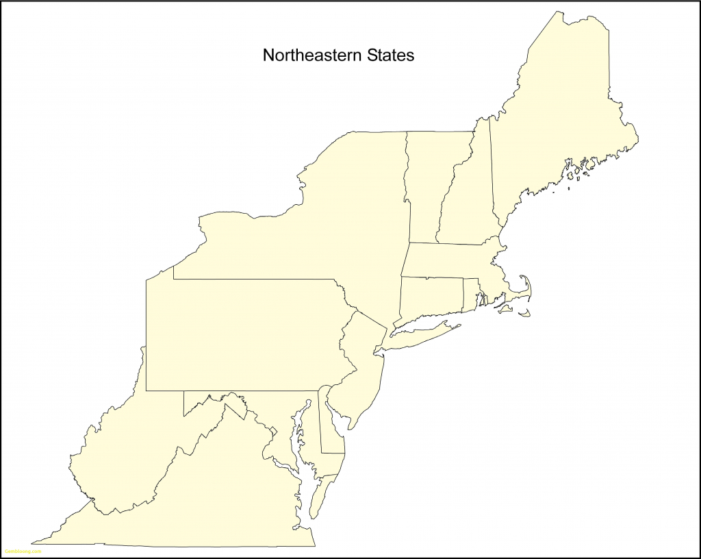Blank Map Of The Northeast Region Of The United States And