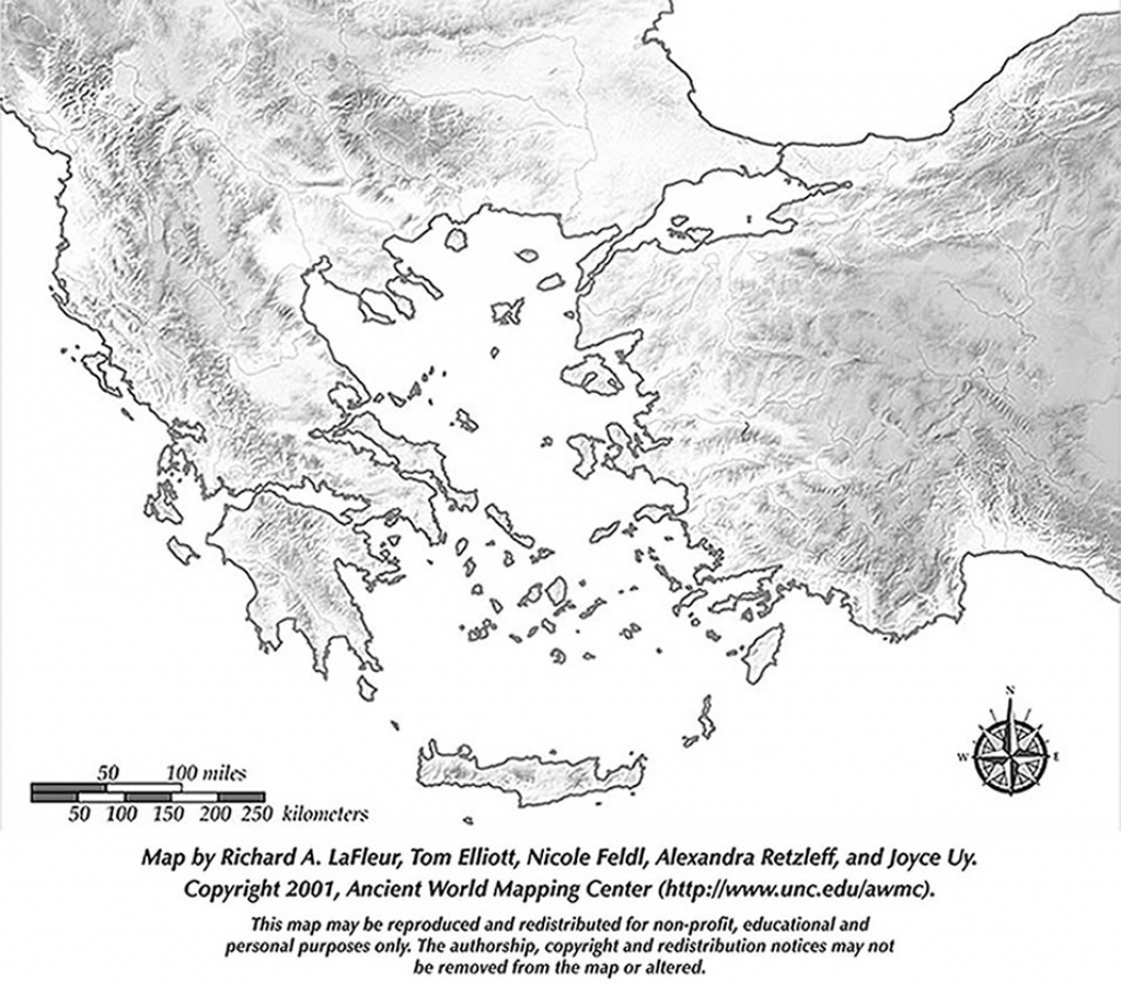 Map Of Ancient Greece Printable