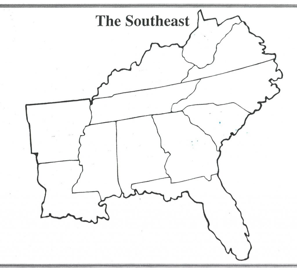 Southern Region Us States Map Us Region Map Quiz New
