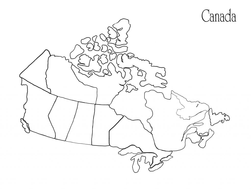 Us Canada Map Printable Fresh Us Canada Map Outline