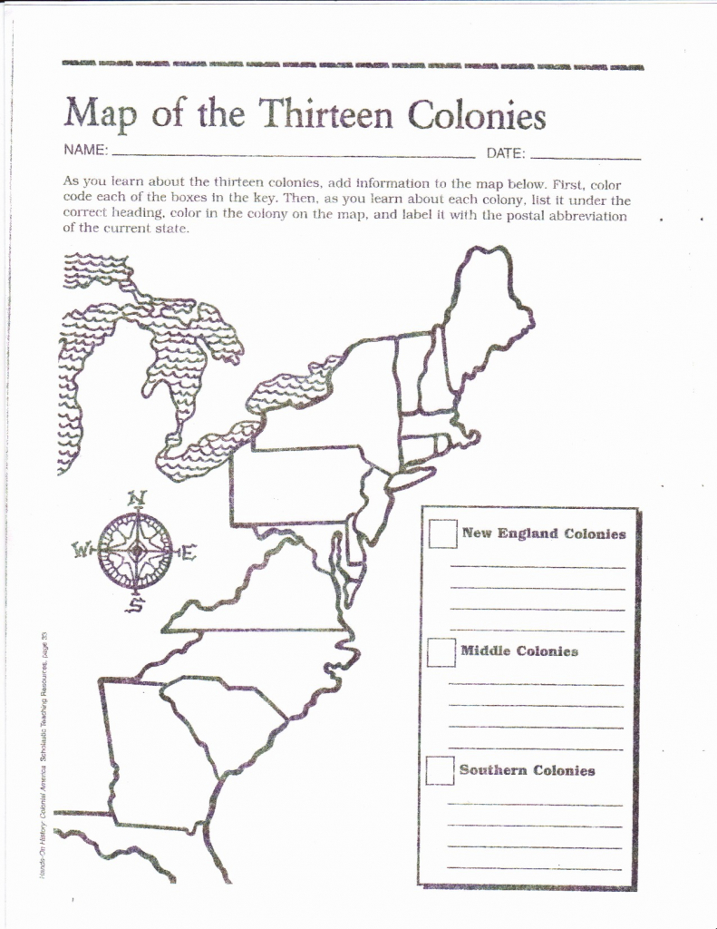 13 Original Colonies Blank Map Us 1 Save With The in Map