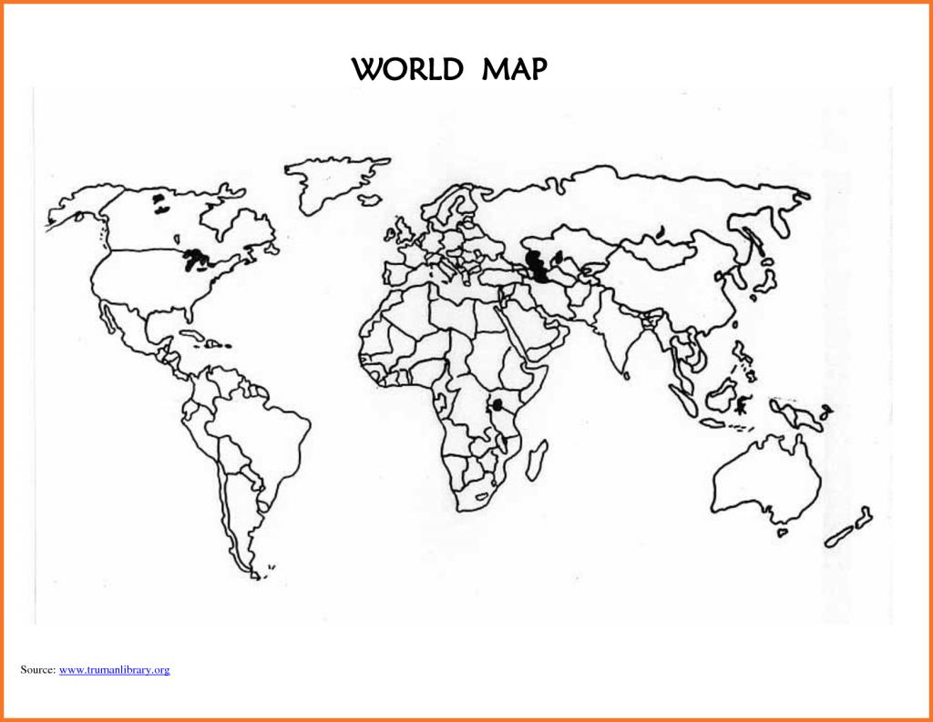 World Map Worksheet