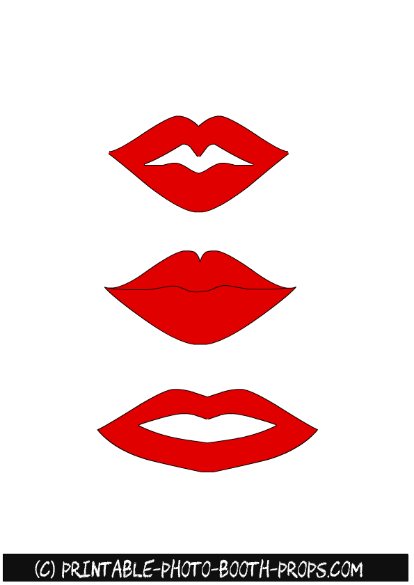 Printable Lips Template : printable, template, Printable, Photo, Booth, Props