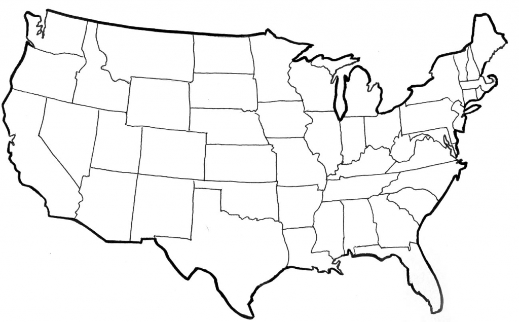 United States Blank Map Quiz Refrence Blank North America