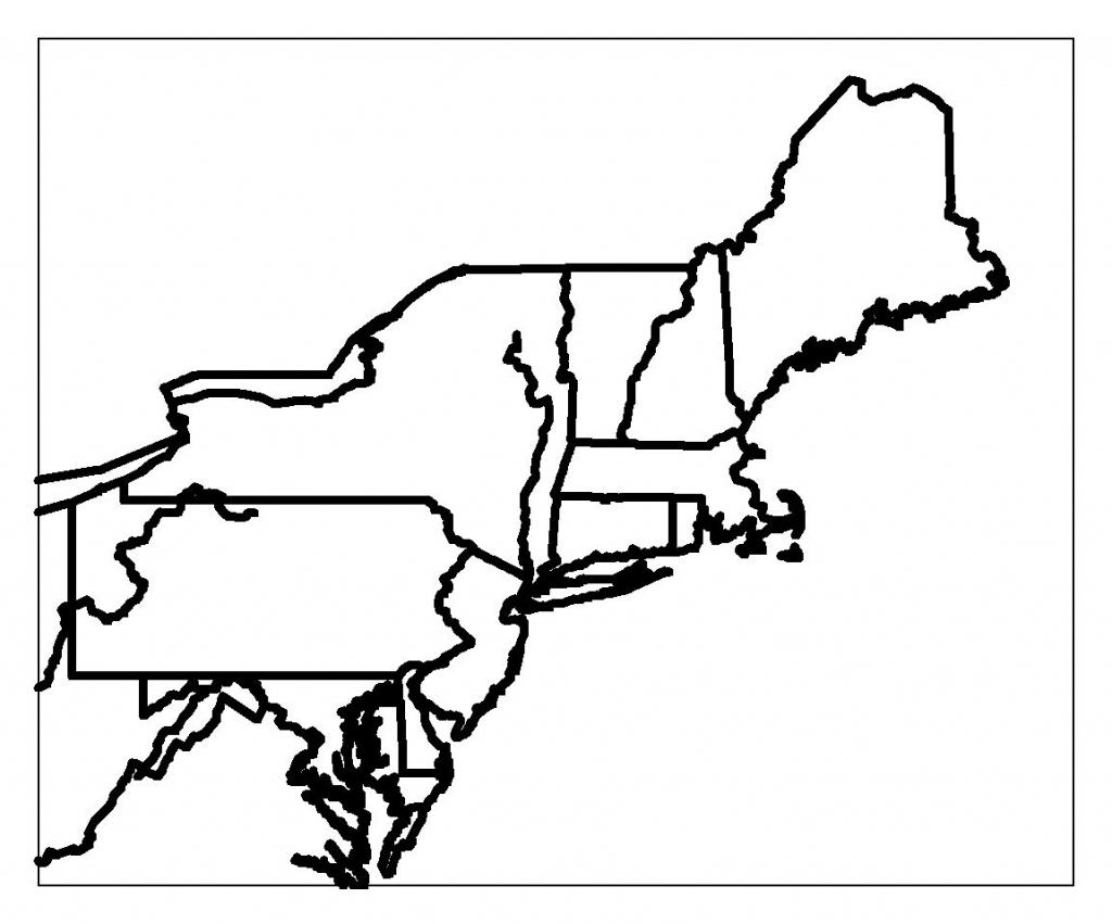 Printable Blank Map Of The Northeast Region Of The United