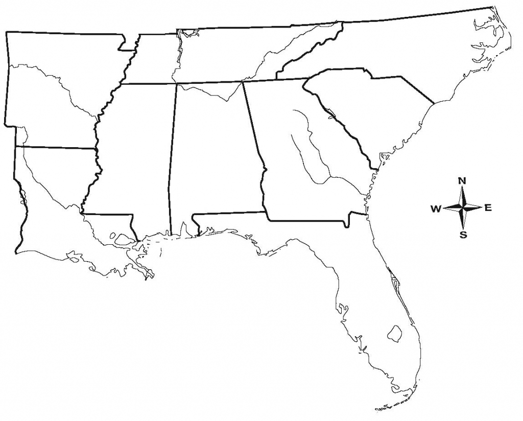 Printable Blank Map Of The Eastern United States