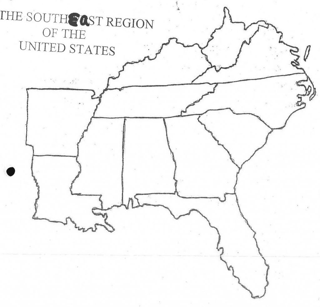 Eastern States Blank Map