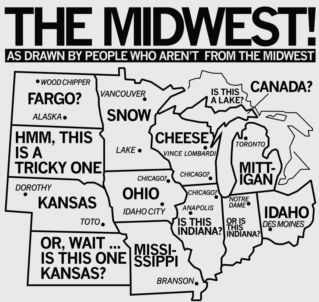 Printable Map Of Midwest Usa