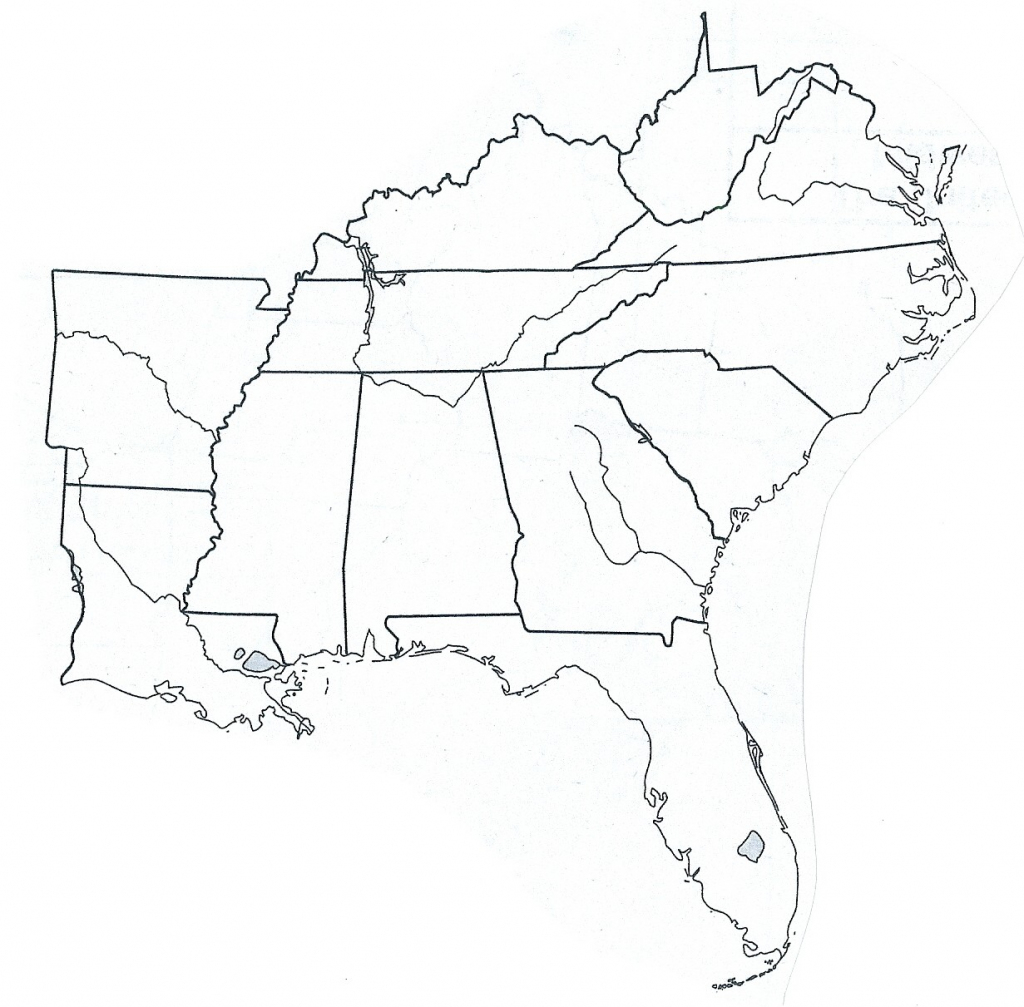 Southeast Us Region Map Blank Valid Blank Northeast Region