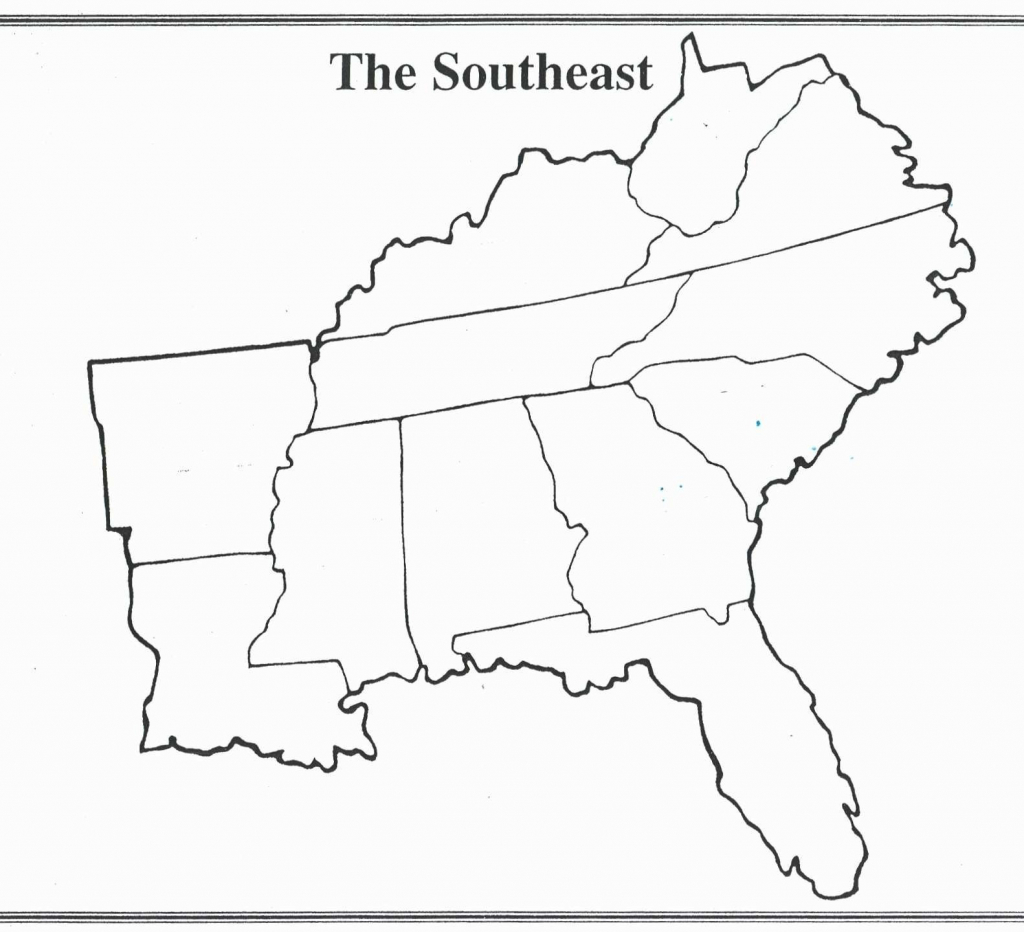 Printable Blank Map Of Northeastern United States