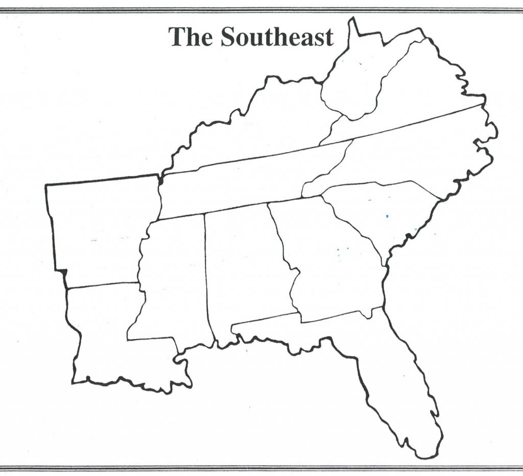 Blank Us Regions Map