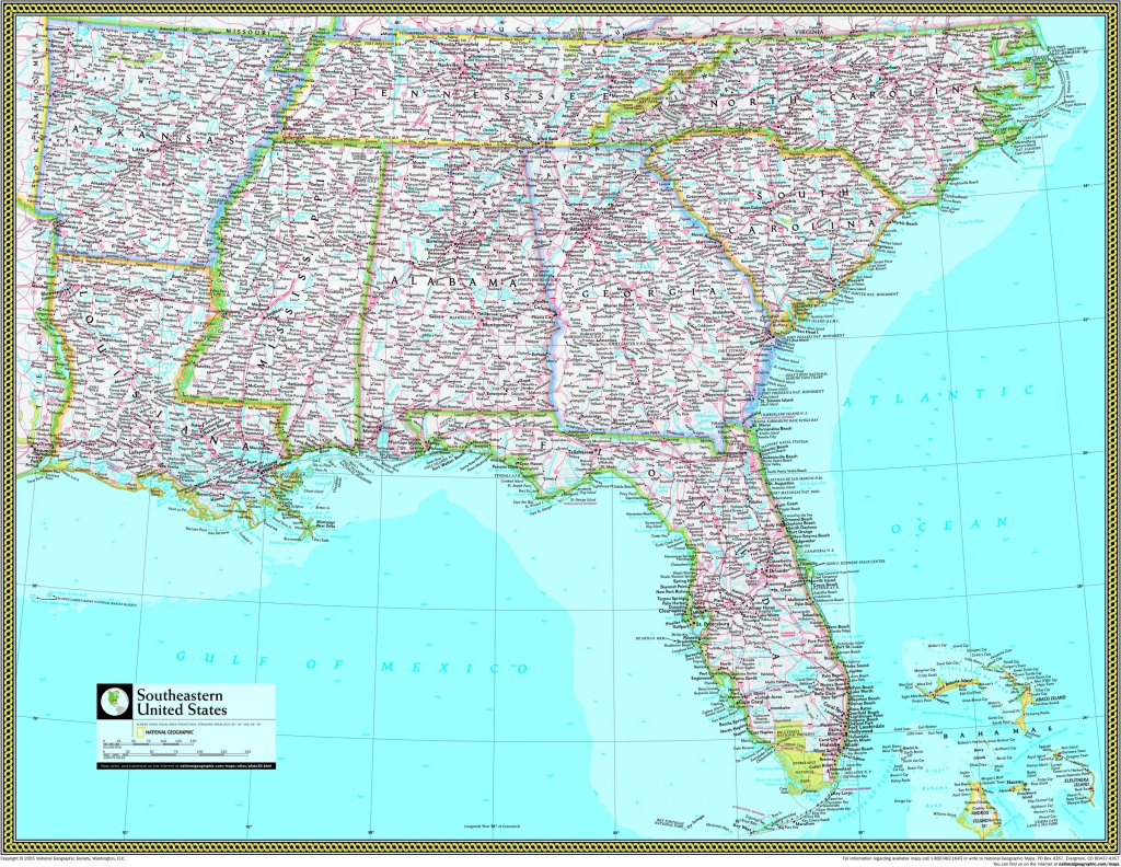 Free Printable Map Of The Southeastern United States