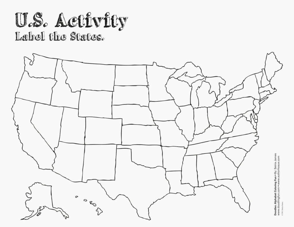 Us Map Test Printable