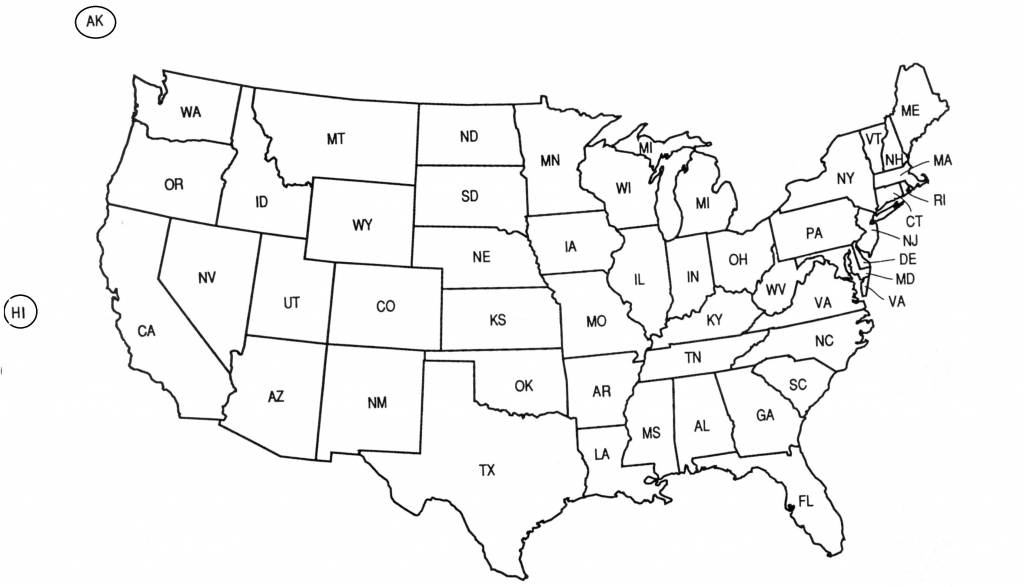 Us 50 State Map Practice Test Usa Labeled Luxury Printable