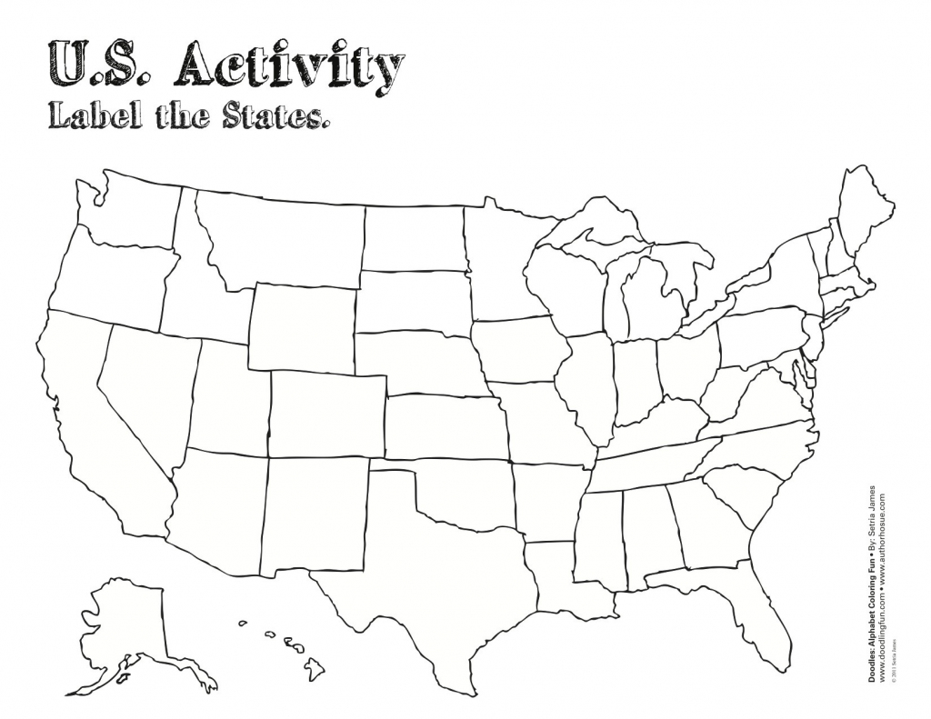 Printable Map Of The United States And Their Capitals