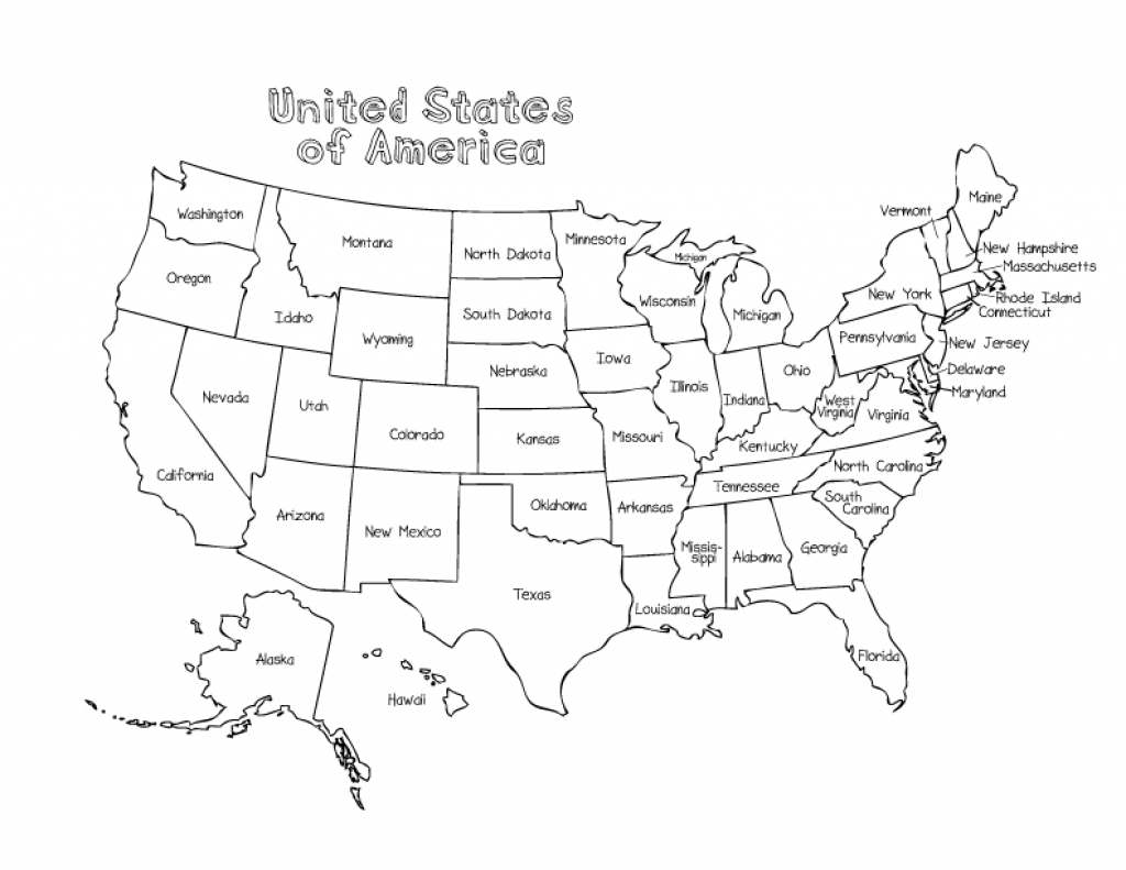 Map Of The United States With State Names And Capitals And