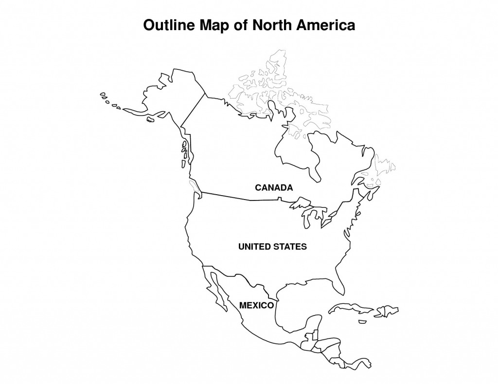 Outline Map Of Us And Canada Usacanadaprinttext