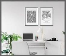 city and map printable prints