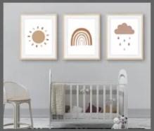scandi boho nursery prints