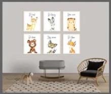 animal nursery printable prints