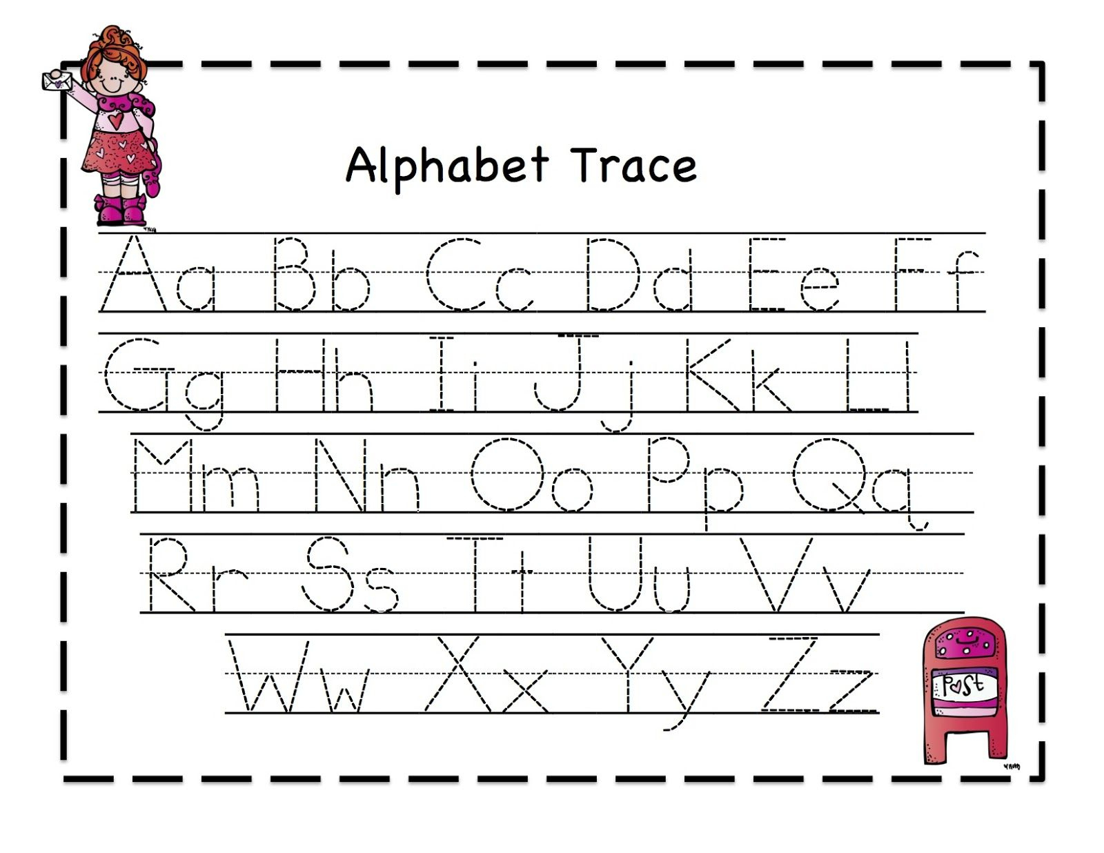 Abc Tracing Sheets For Preschool Kids