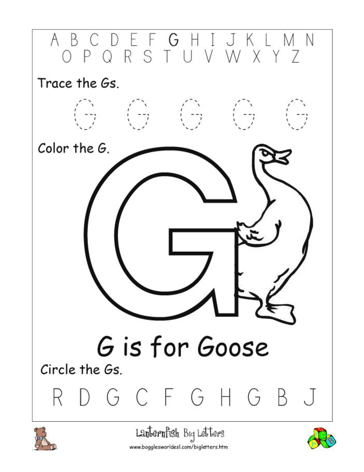 15 Exciting Letter G Worksheets For Kids