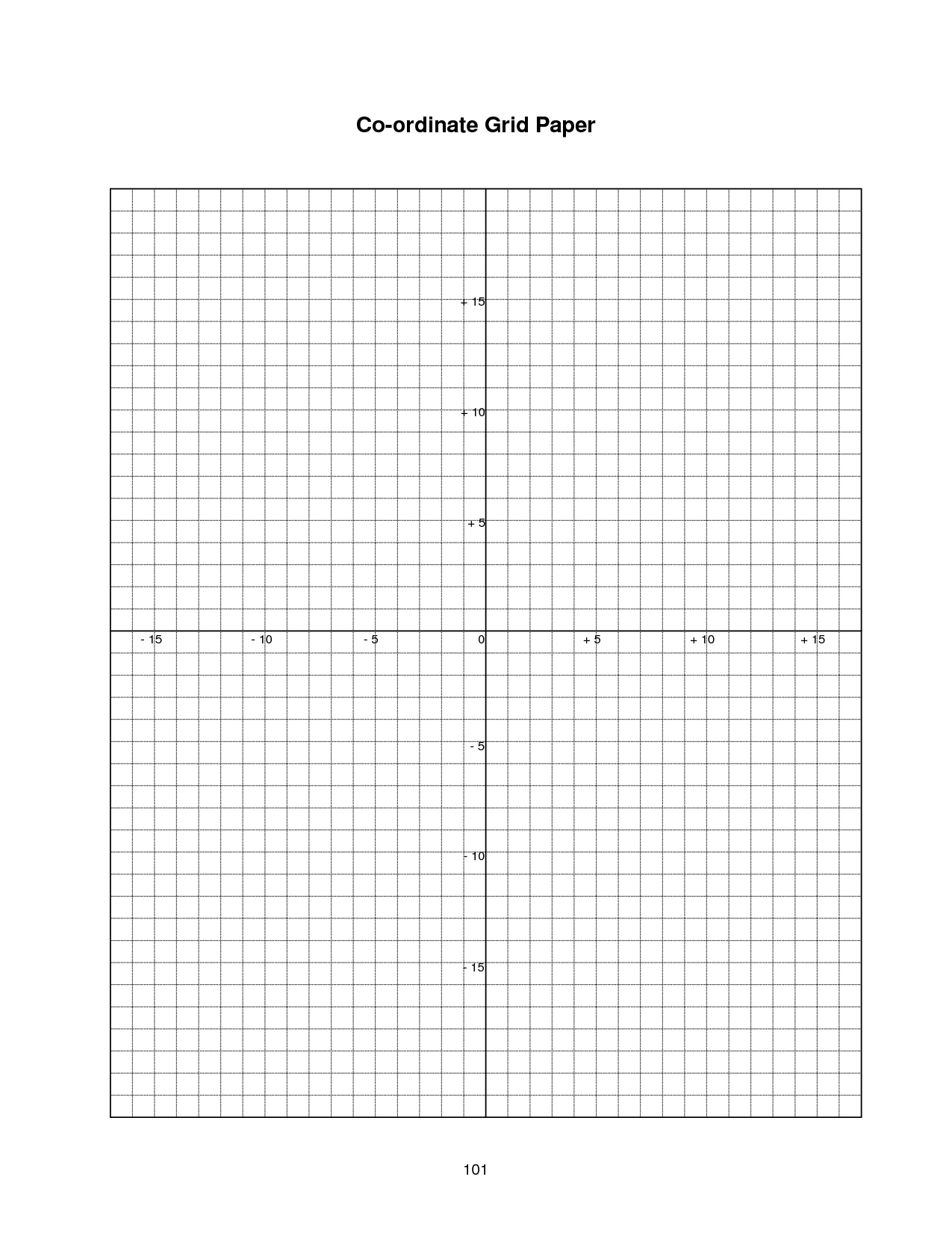 Coordinate Plane Graph Paper Worksheets