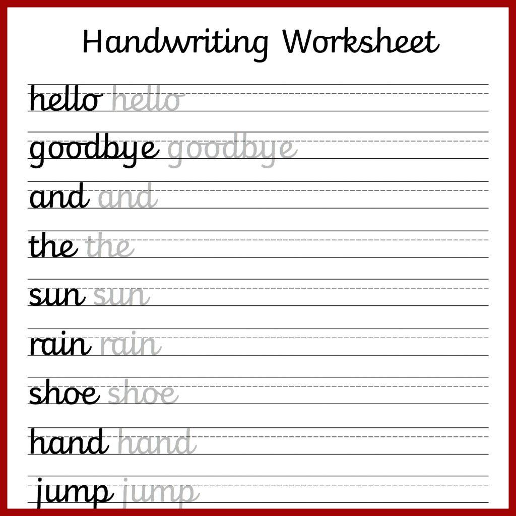 Cursive Handwriting Worksheets Free Printable Mama