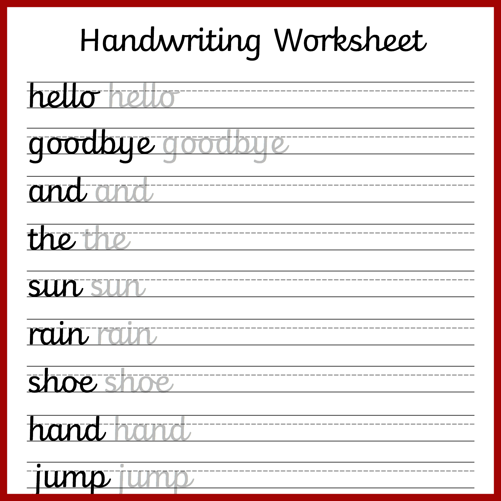 hight resolution of Cursive Writing Practice Printable Worksheets   Printable Worksheets and  Activities for Teachers