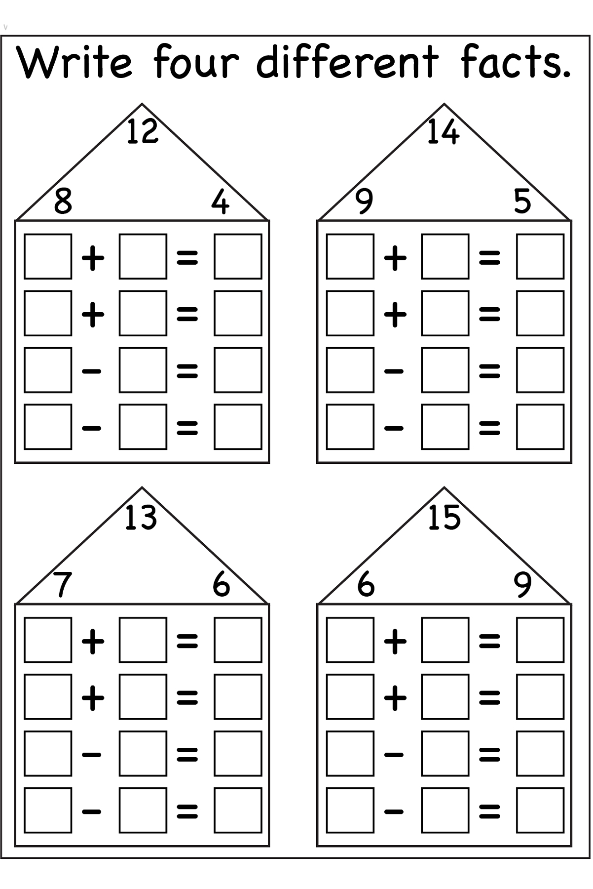 Family Printable Worksheets
