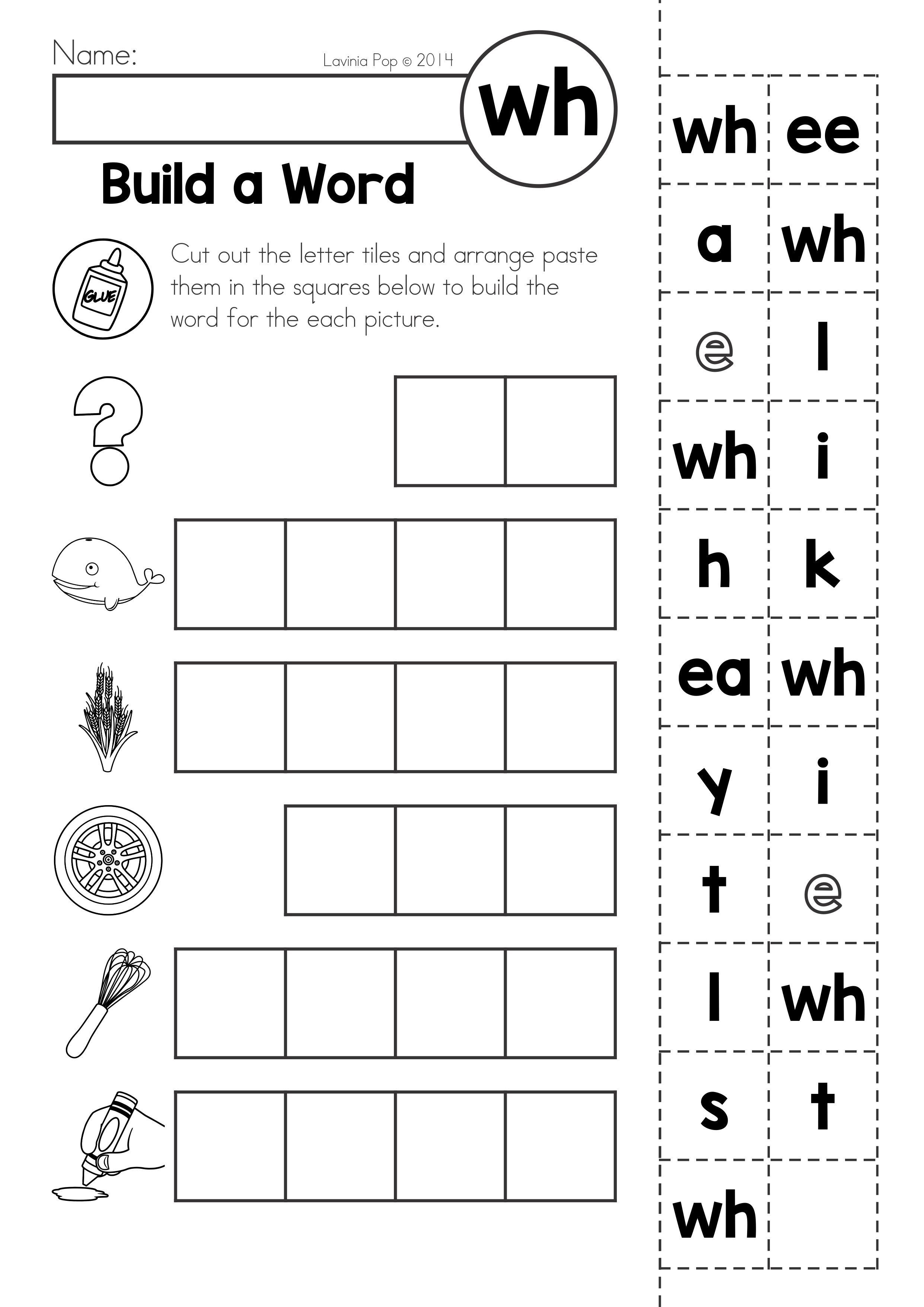 Free Digraph Wh Phonics Word Work Multiple Phonograms
