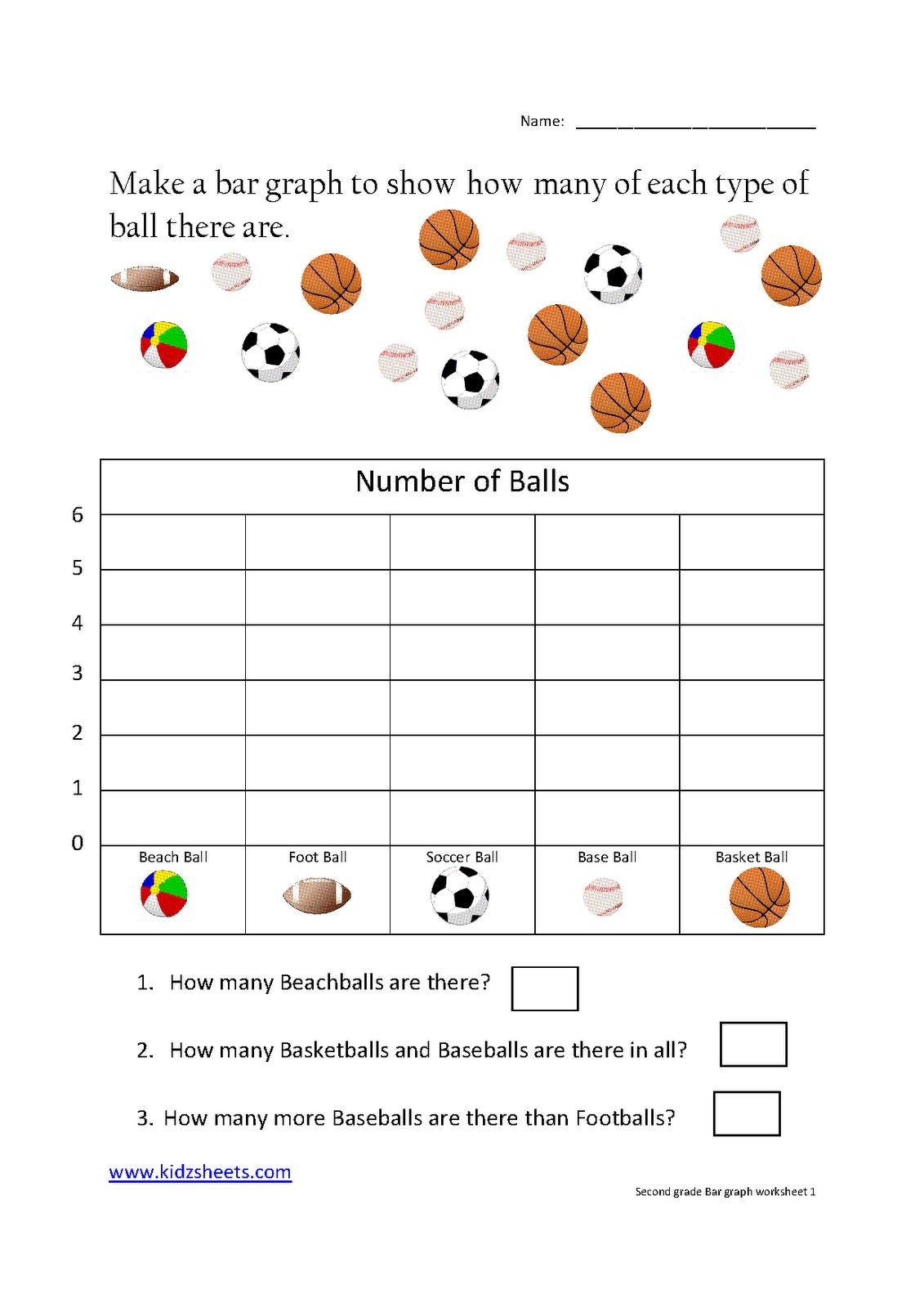 Kidz Worksheets Second Grade Bar Graph Worksheet1