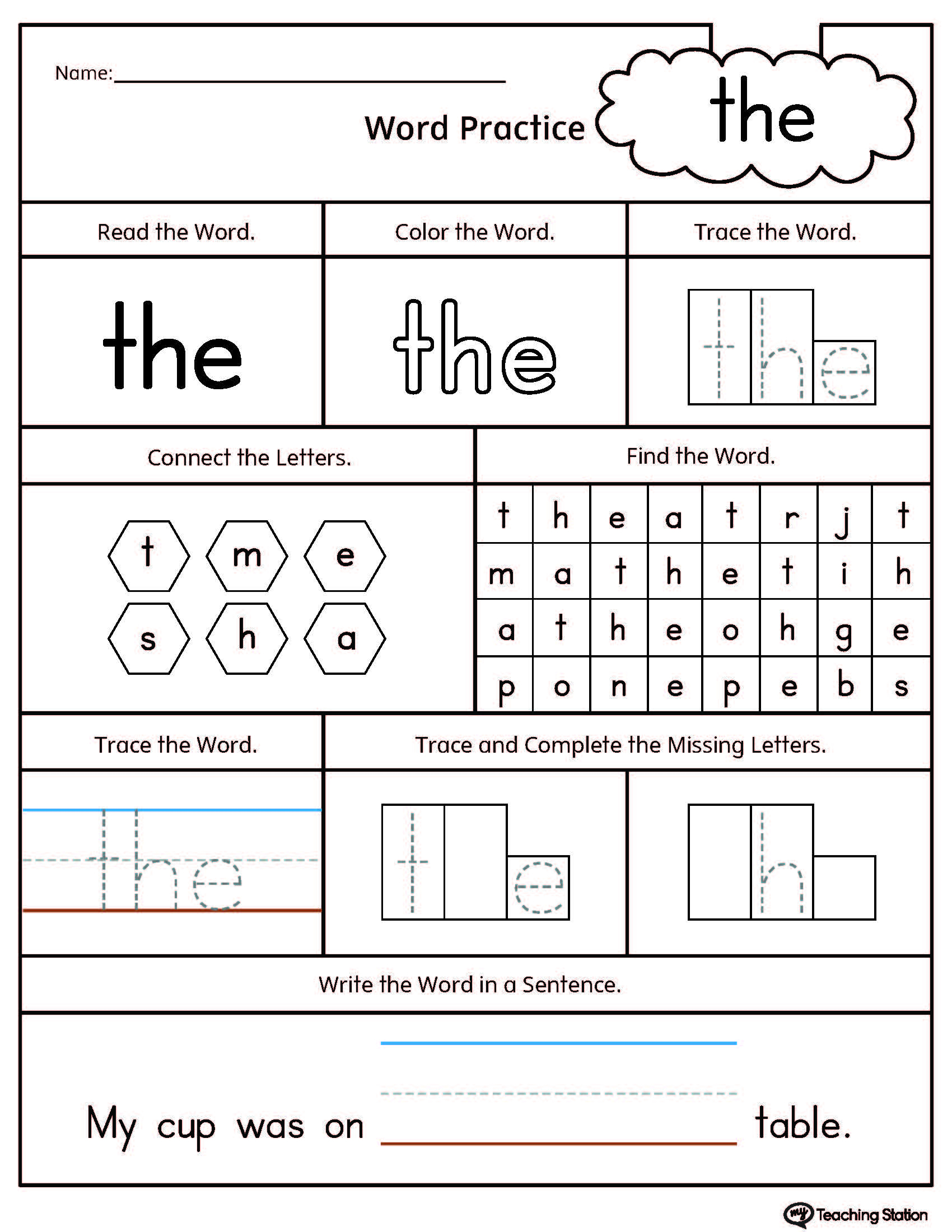 Dolch Words Worksheets Free Printable